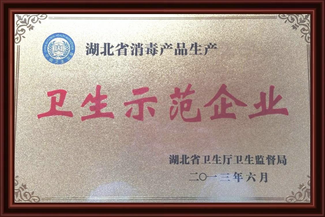 湖北省消毒产品示范企业